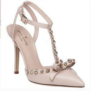 kate spade lydia studded heels pump petal pink 6.5